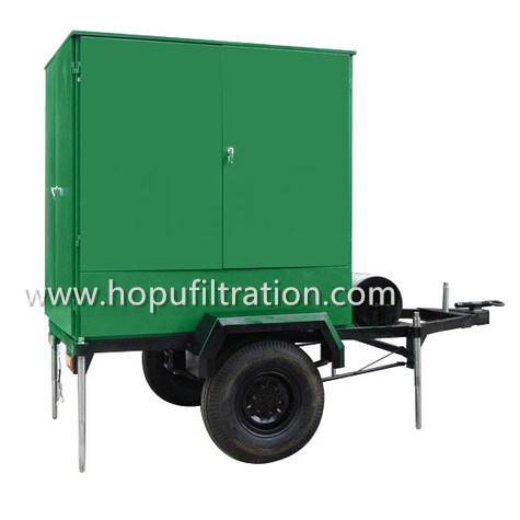 Mobile Trailer Wheel Mounted Vacuum Transformer Oil Filtration Plant, Mobile Oil Cleaning Unit