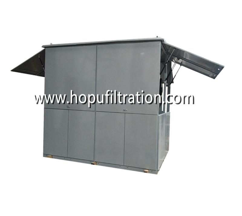 Mobile Weather-Proof Enclosed Cabinet Vacuum Dielectric Oil Filtration Plant