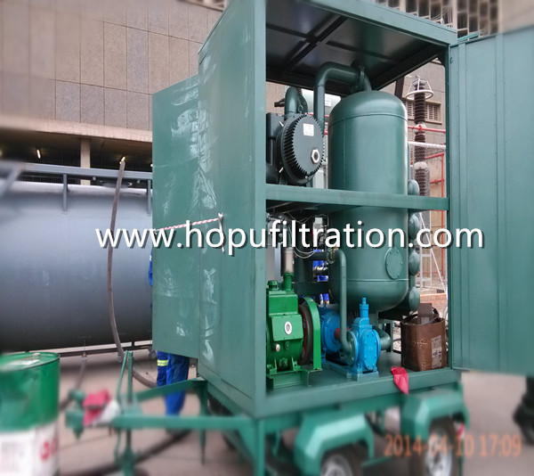 Mobile Trailer Wheel Mounted Vacuum Transformer Oil Filtration Plant in South Africa