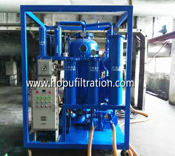 Explosion proof vacuum hydraulic oil filtration plant
