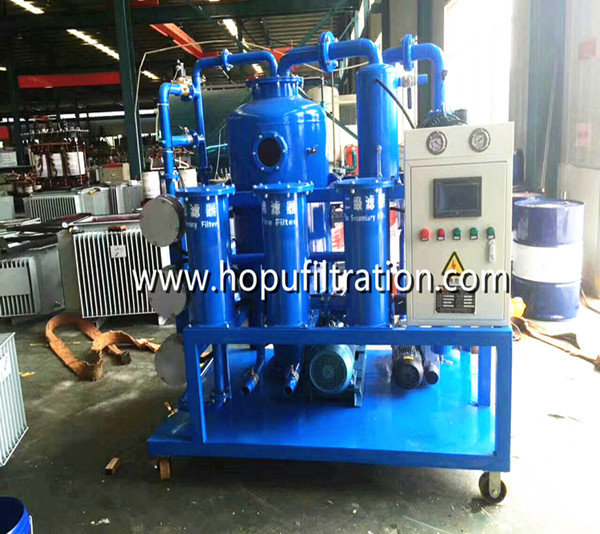 Double Stage Vacuum Transformer Oil Purification Plant for maintenance new transformers