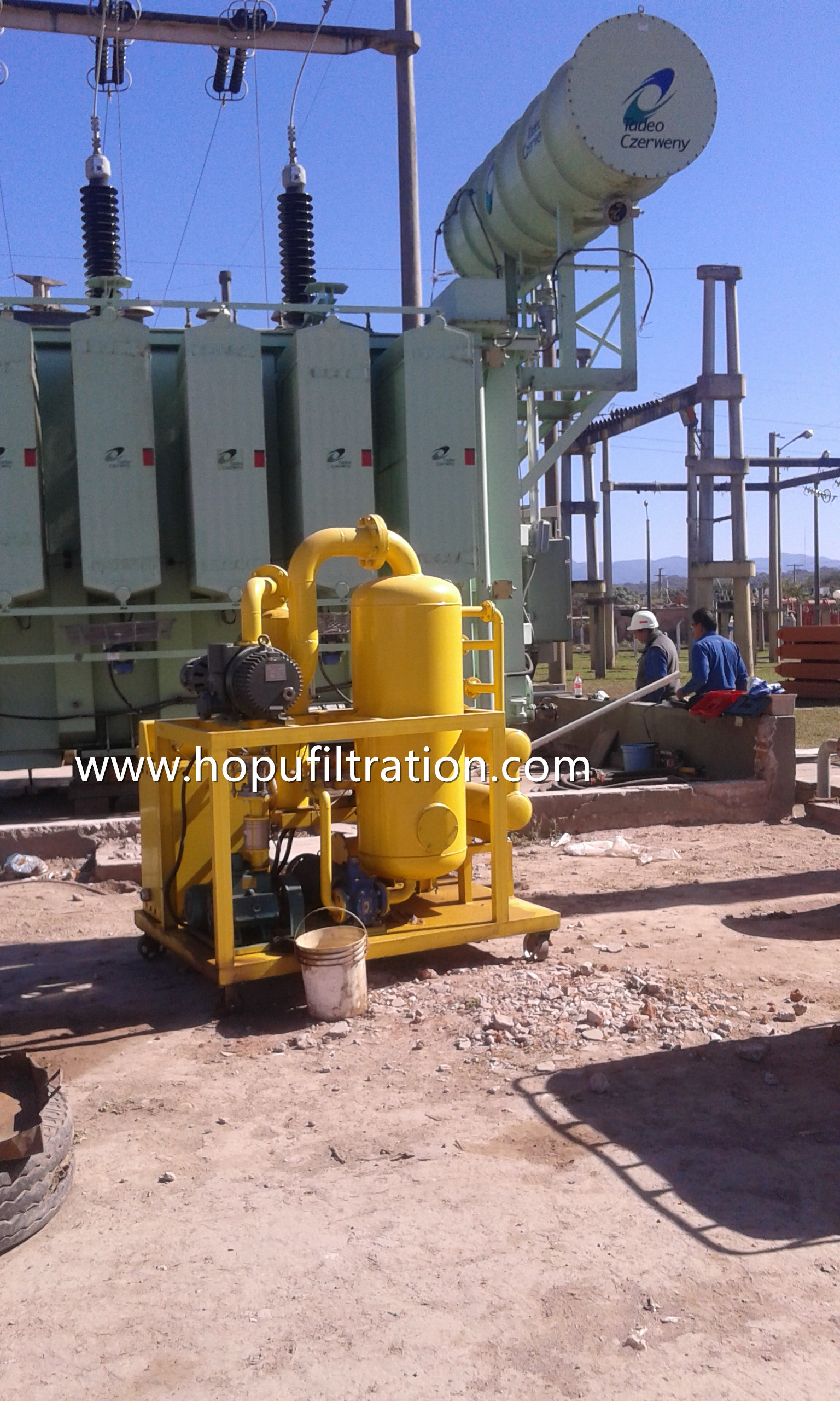 Double Stage Vacuum Transfomer Oil Filtration Machine ZYD-30 onsite working