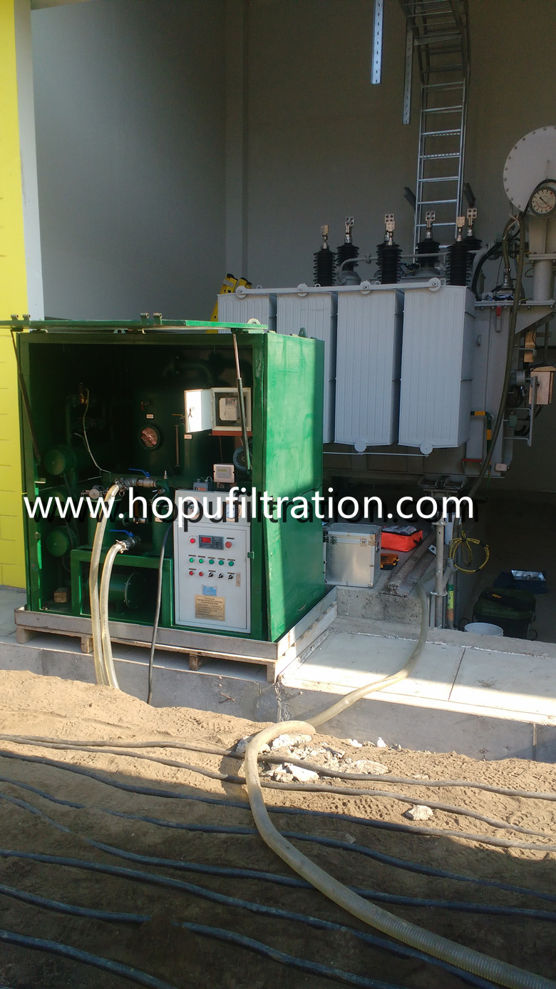 4000 liters per hour transformer oil purifier working in Peru