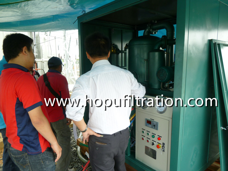 Enclosed Cabinet Vacuum Transformer Oil Purification plant and vacuum pumping set