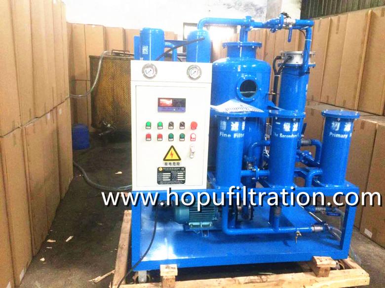 Vacuum Turbine Oil Purifier, Oil Polishing machine in buyers' factory