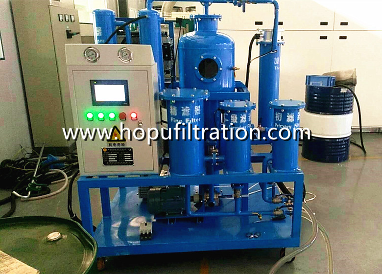 Vacuum Turbine Oil Purifier, Oil Polishing machine in buyers' factory