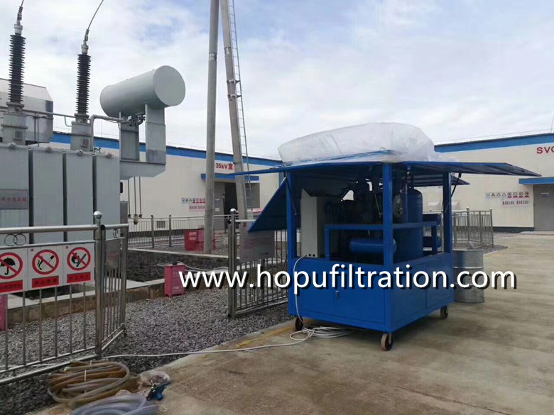 enclosure cabinet type transformer oil filtration equipment,onsite dielectric vacuum oil purifier