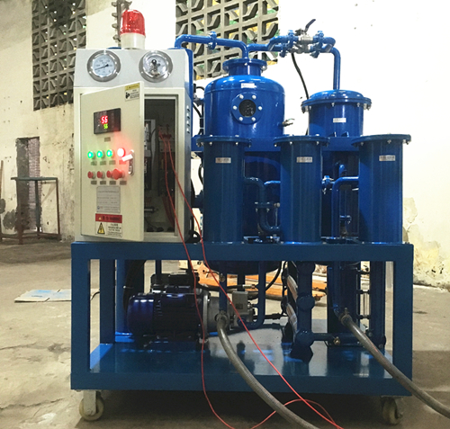 Vacuum Hydraulic Oil Purifier onsite installation for Philippine client