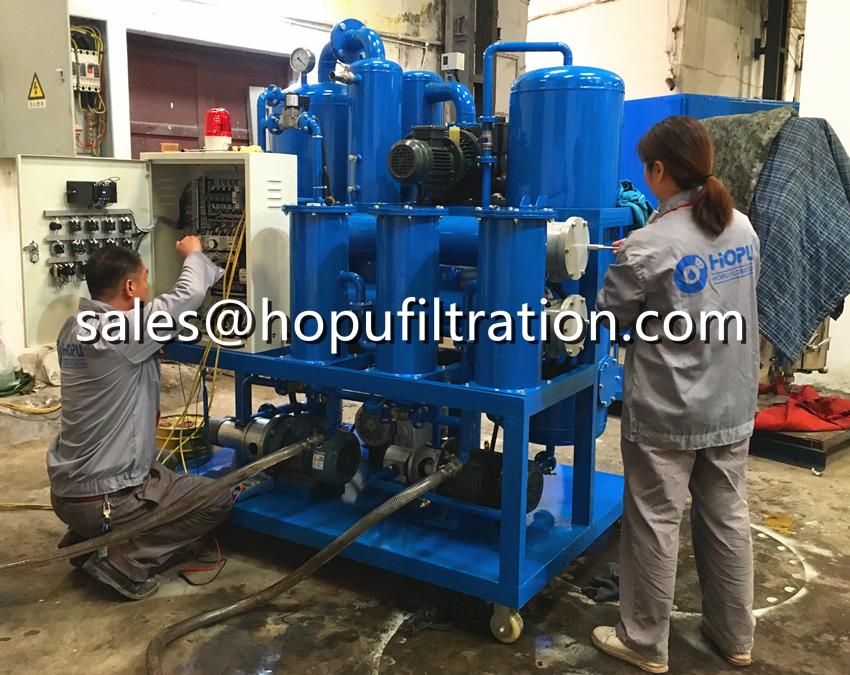 3000LPH Vacuum Transformer Oil Regeneration Plant