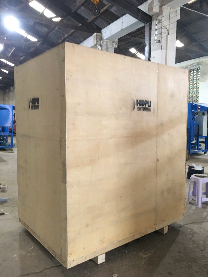 Double Stage Vacuum Transformer Oil Filtration Plant shipping