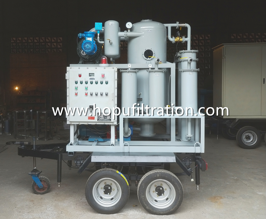 mobile trailer vacuum transformer oil purifier manufacture