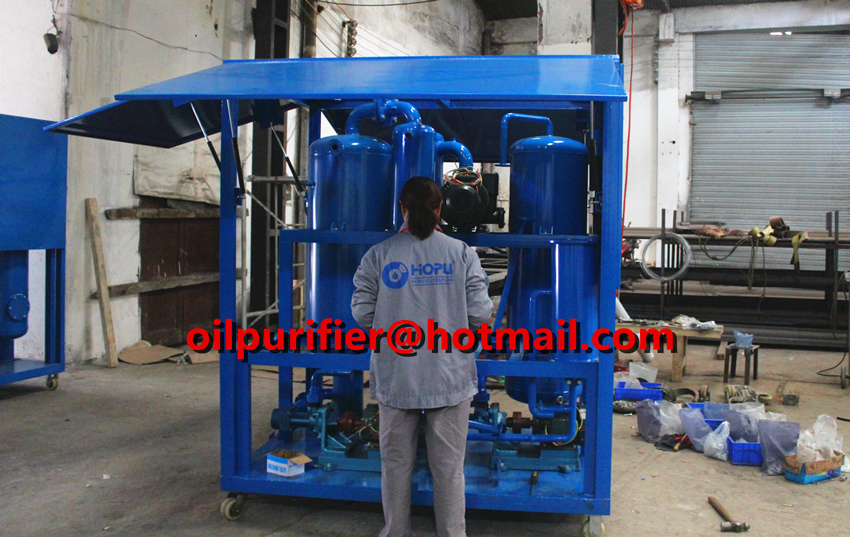 Enclosure Shelter Type Oil Purifier Machine Delivery