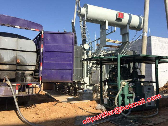 Used Transformer Oil Filtration Plant Working