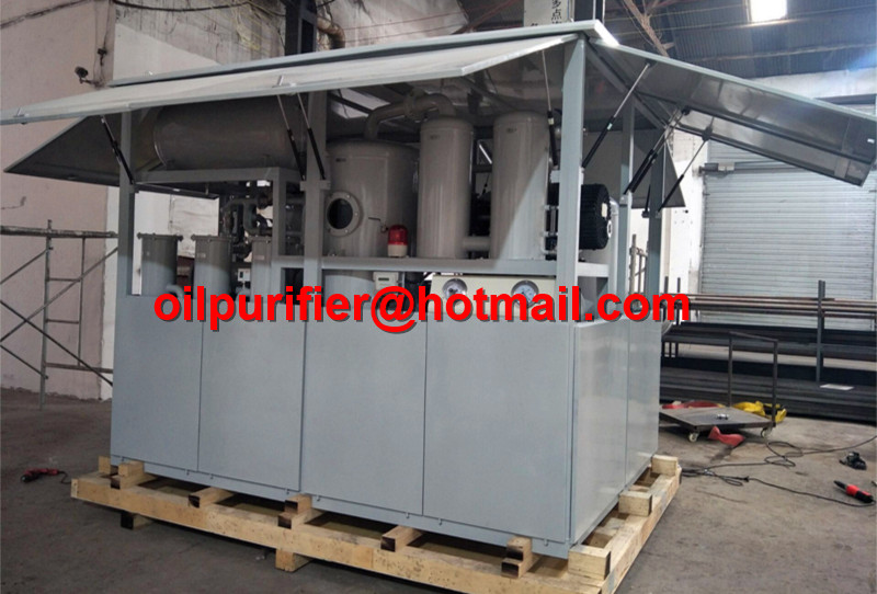 Weather Proof Canopy Transformer Oil Filtration Machine