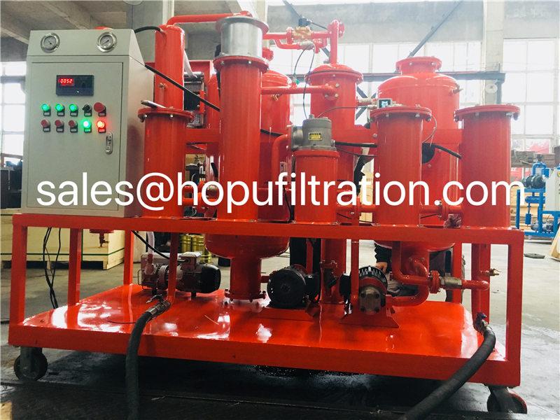 vacuum hydraulic oil dehydrator, lube oil purification