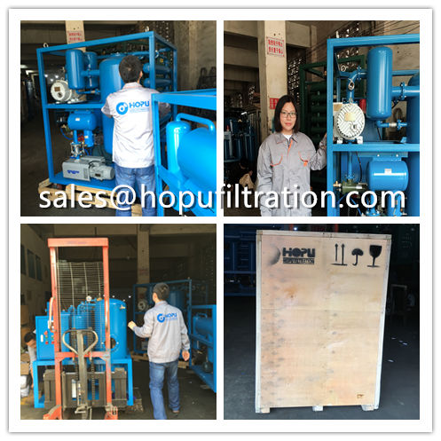 Double Stage Vacuum Transformer Oil Purifier delivery