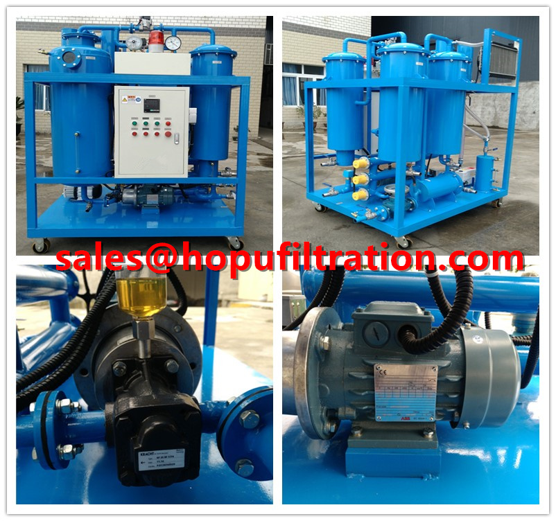 Vacuum Turbine Oil Dehydration and Filtration System