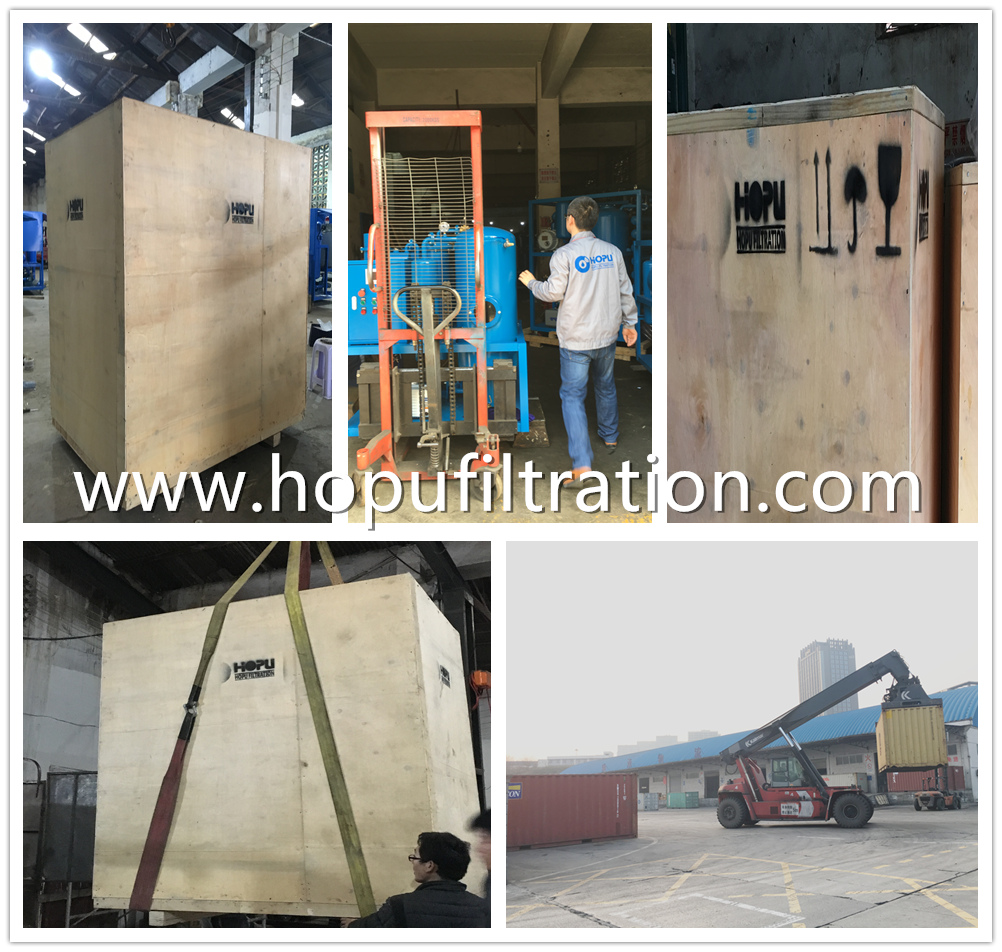 Hot Sale Oil Purification Unit and Oil Filtration Machine for shipping