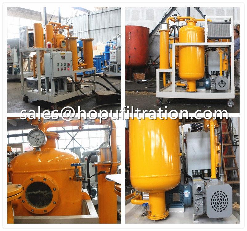 Turbine Hydraulic Oil Dehydration Unit site work