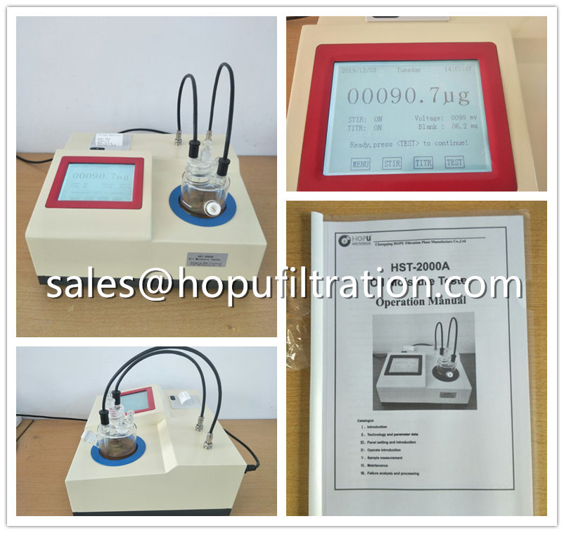 Karl Fischer coulometric Oil Moisture Tester Delivery