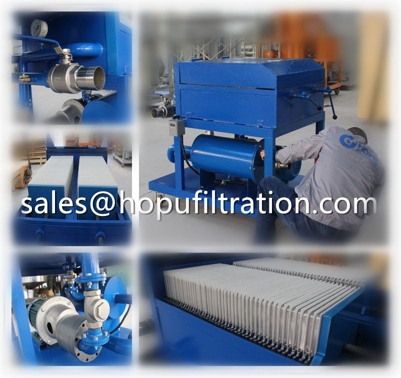 Plate Frame Press Oil Filtration Machine