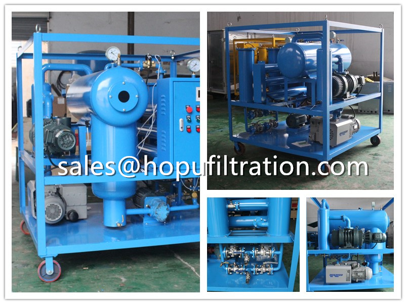 horizontal vacuum transformer oil purifier