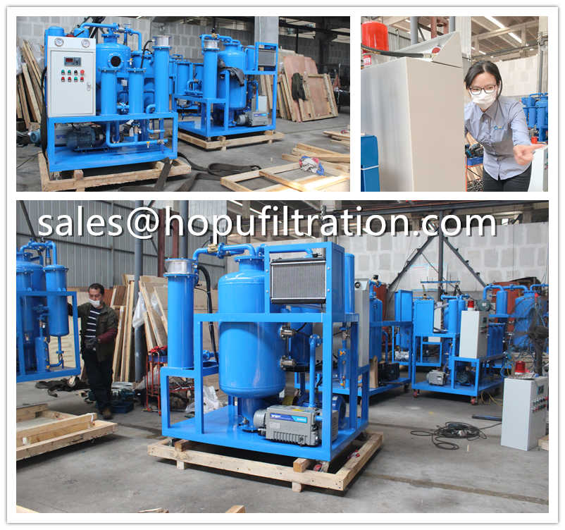 5 Sets Vacuum Lube Oil Purifier Packing and Shipping