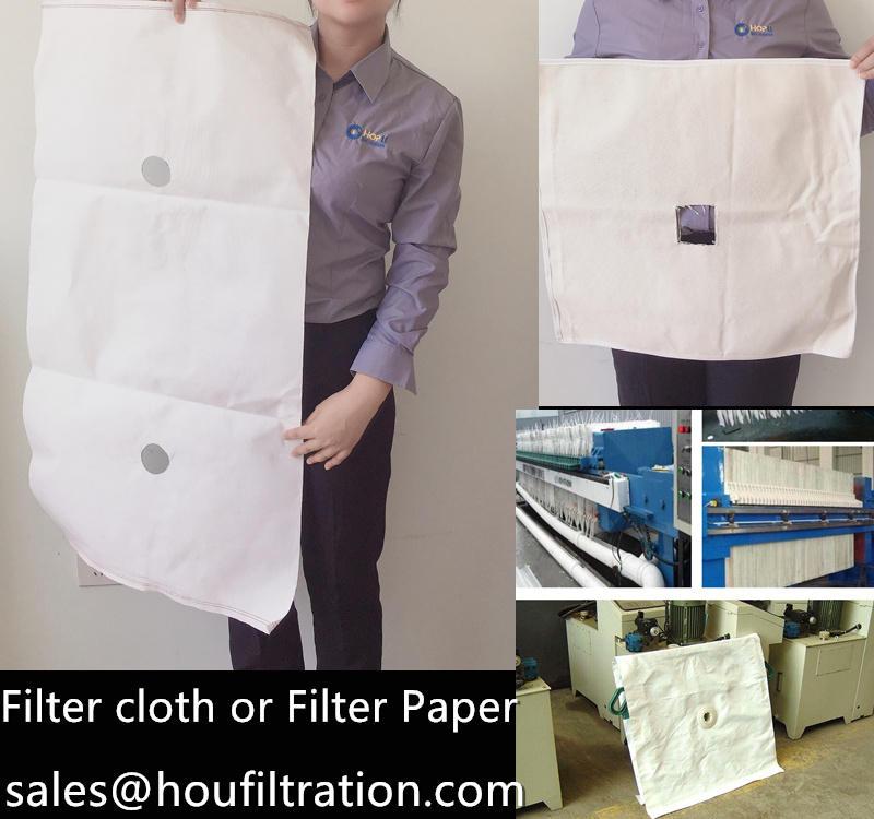 Filter Cloth or Filter Paper for Press filter system