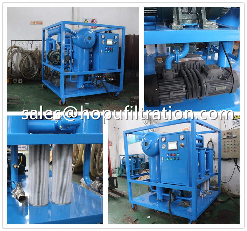 Insulation Oil Purifier with horizontal vacuum chamber
