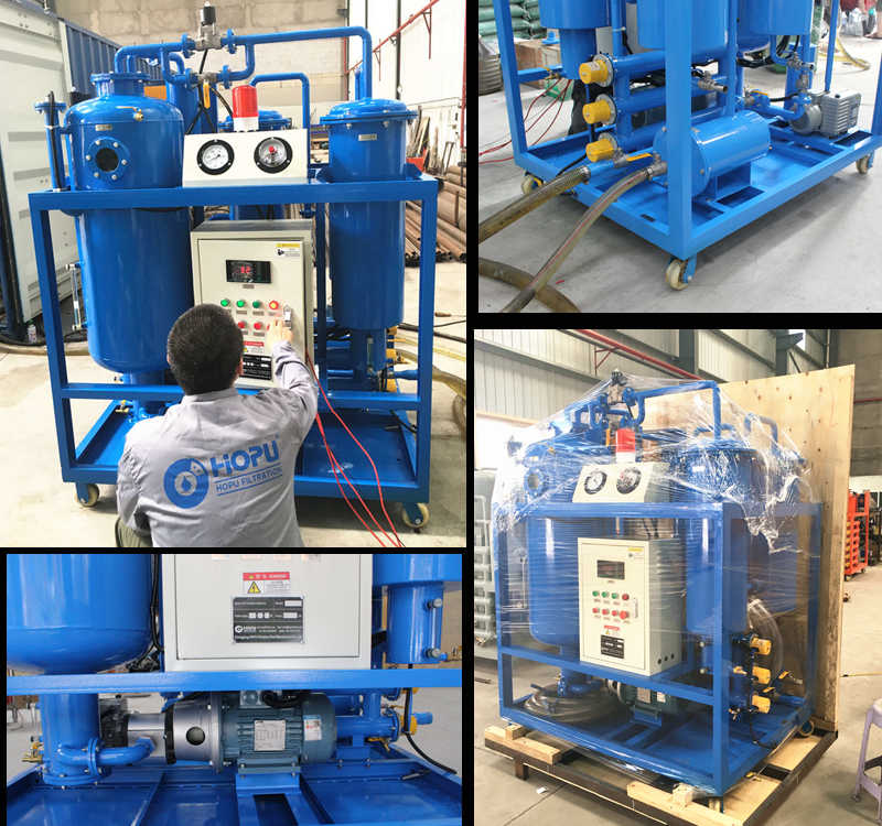Turbine Oil Purifier with Spill tray sensor