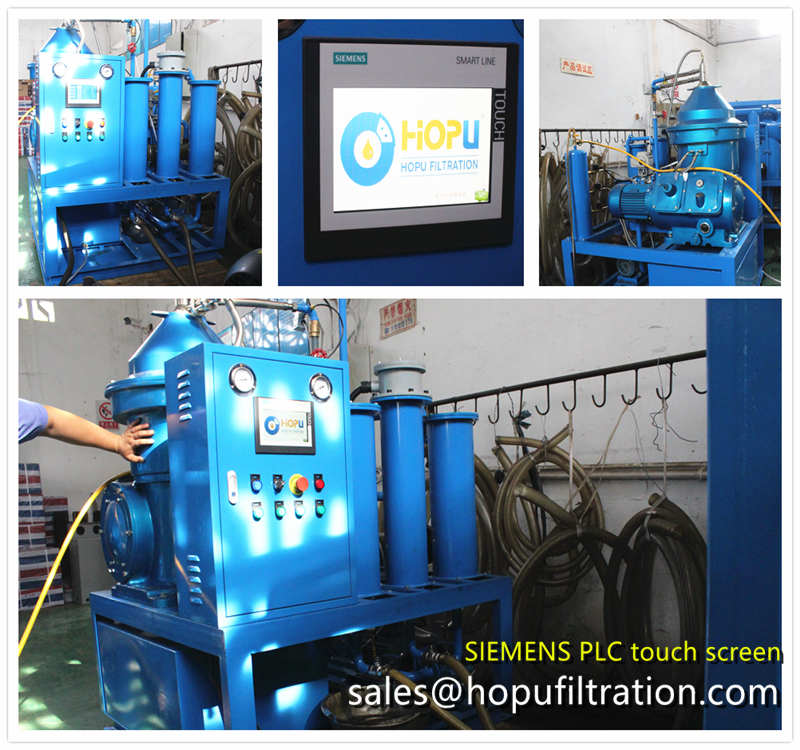 PLC Fully Automatic Centrifuge Oil Purifier