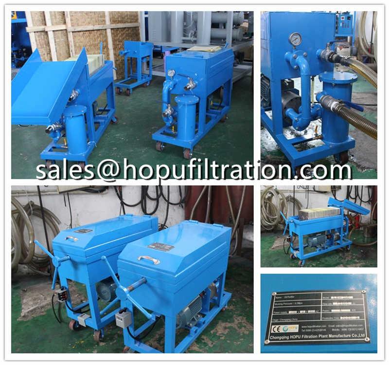 Portable Waste Oil Filtration Machine, Mini Oil Purifier
