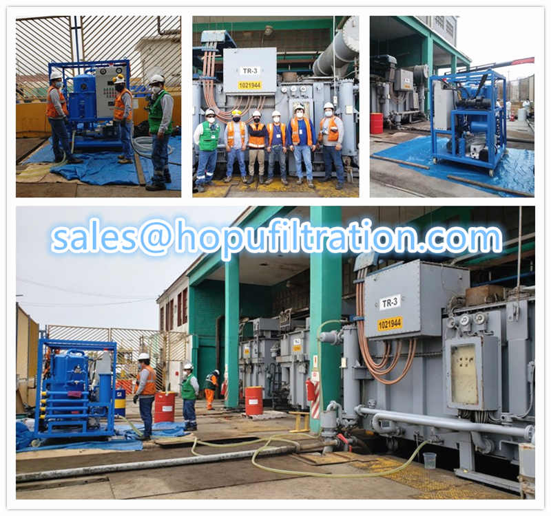 Site working Transformer Oil Purifier  in South America