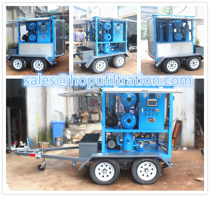 Mobile oil purification equipment