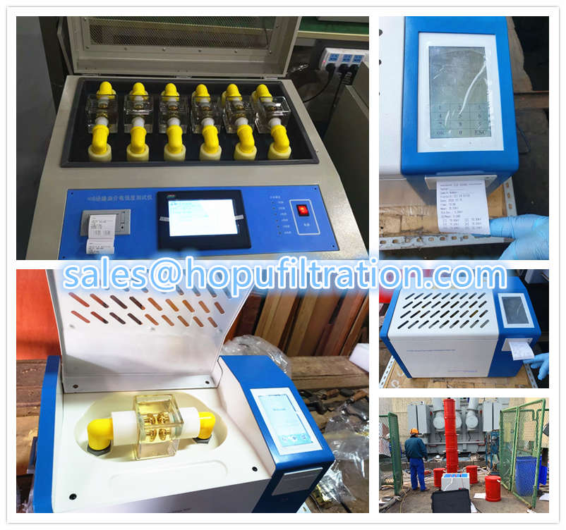 Site working transformer oil breakdown voltage analyzer