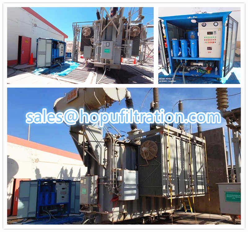Site working vacuum transformer oil filtration system