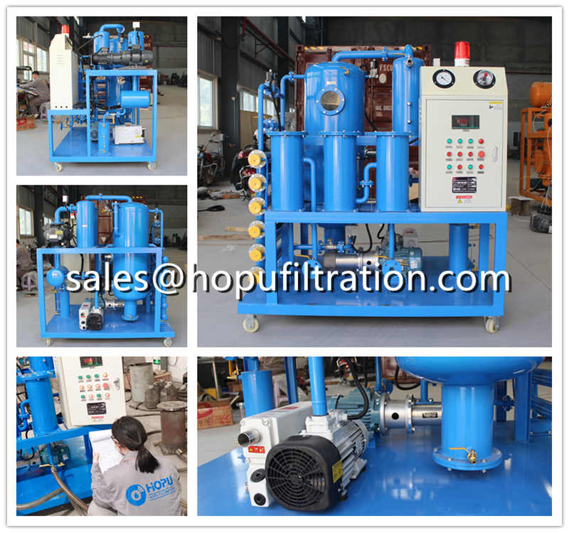 Transformer Oil Vacuum Dehydration and Degassing System