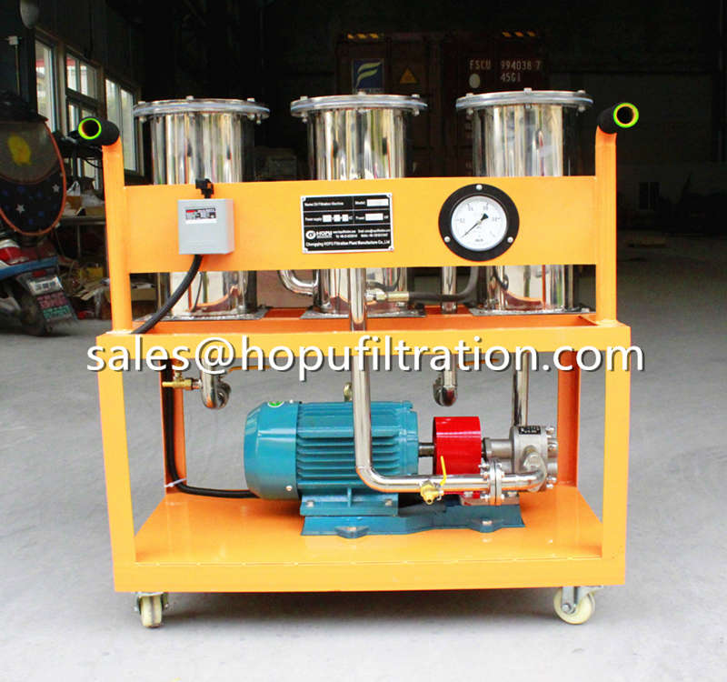 Stainless Steel Type Portable Oil Filtration Unit