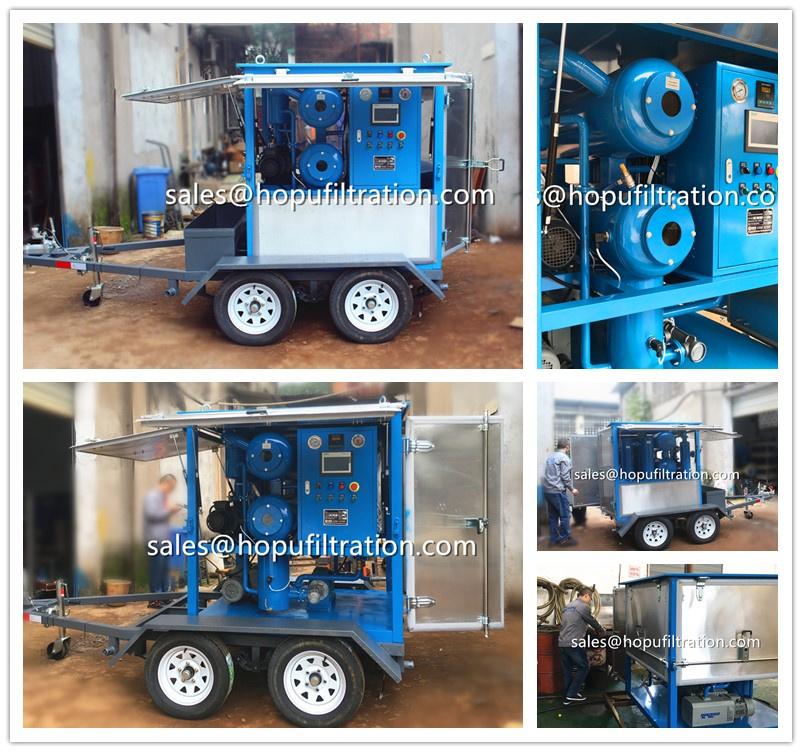 Mobile Trailer Transformer Oil Filtration Plant