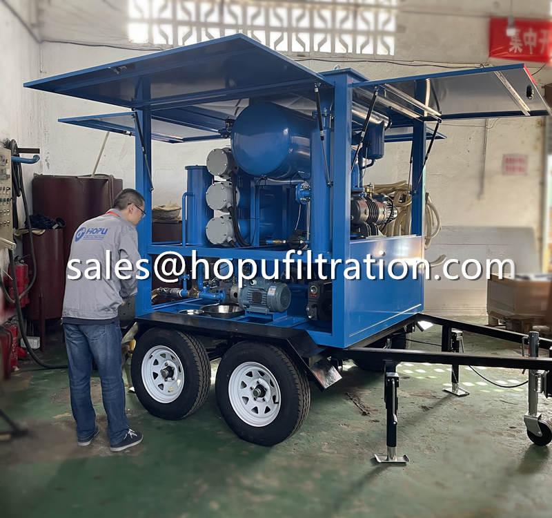 four car wheels mobile transformer oil purifier.jpg