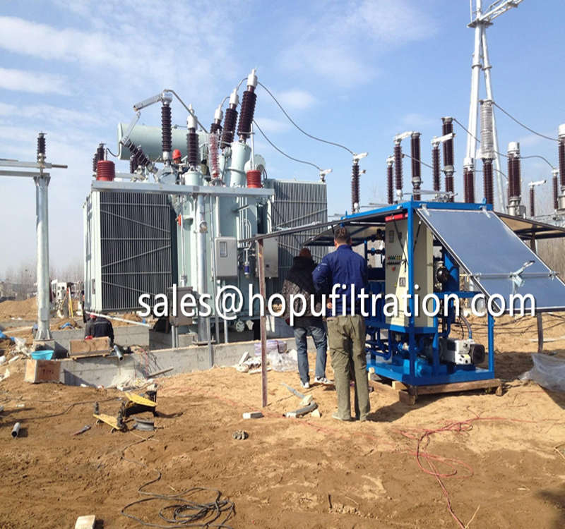 Weather proof enclosure vacuum transformer oil treatment plant