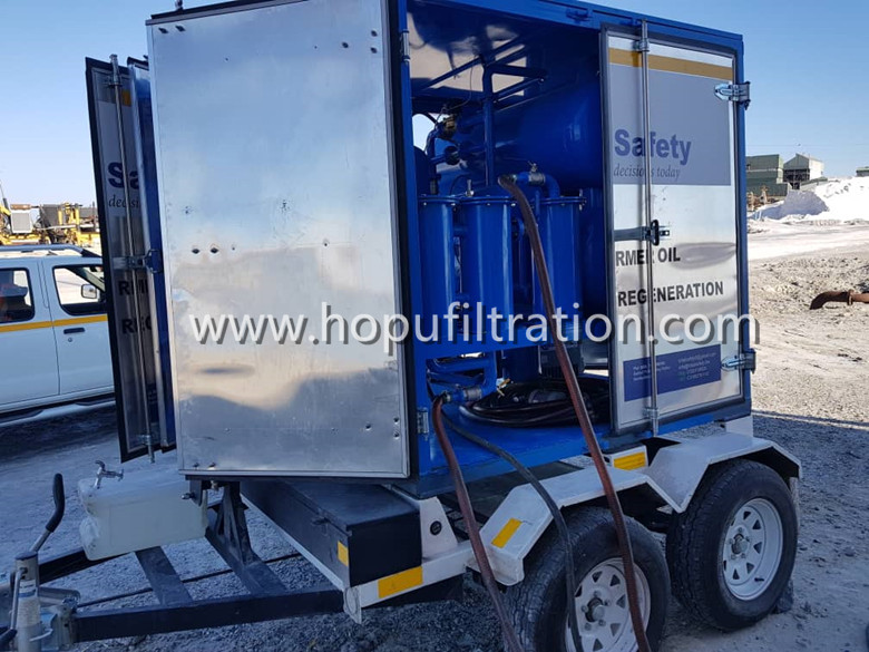 mobile trailer vacuum transformer oil purifier,insulation oil filtration ,dielectric oil purification system