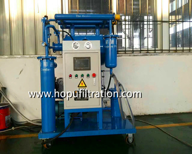 single stage vacuum insulation oil purifier onsite working
