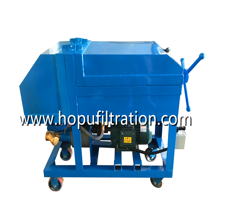 Plate Frame Oil Purifier Press Oil Filtration Machine
