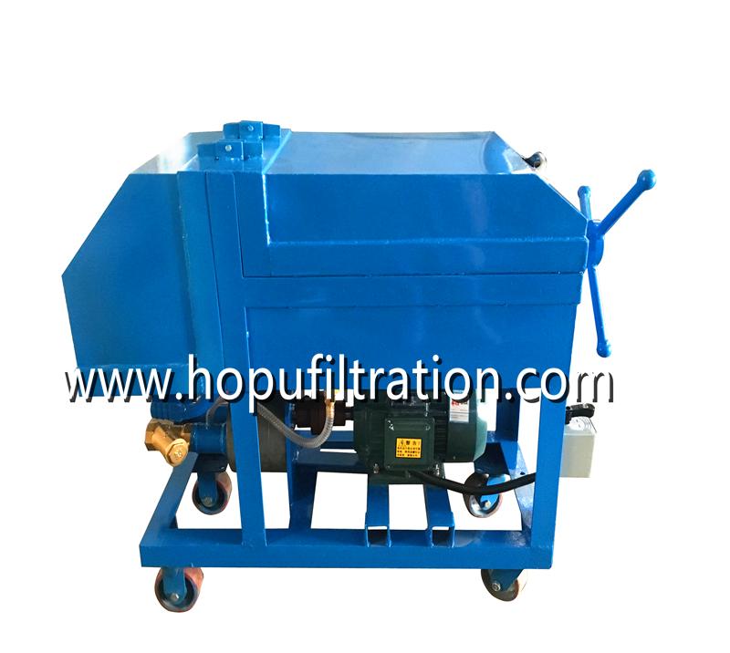 Plate Frame Oil Purifier Press Oil Filtration Machine