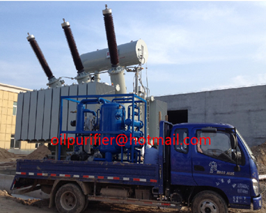 onsite working double stage vacuum transformer oil purifier
