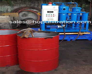 vacuum hydraulic oil purifier site working