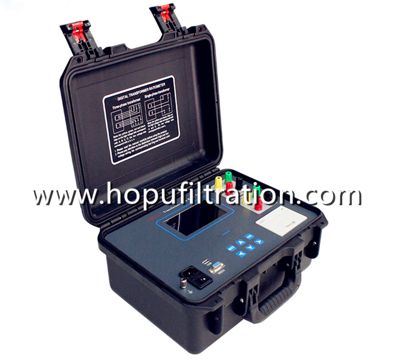 Automatic Transformer Turns Ratio Meter TTR Tester Single/Three Phase