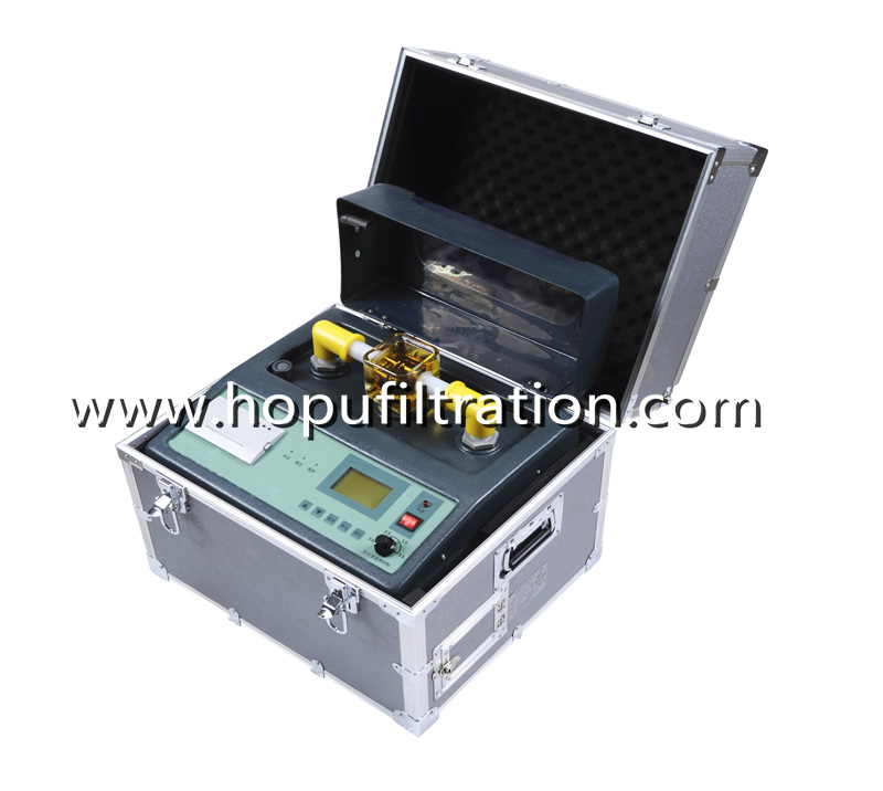 High accuracy portable testing equipments, Fully Automatic transformer oil bdv dielectric strength tester