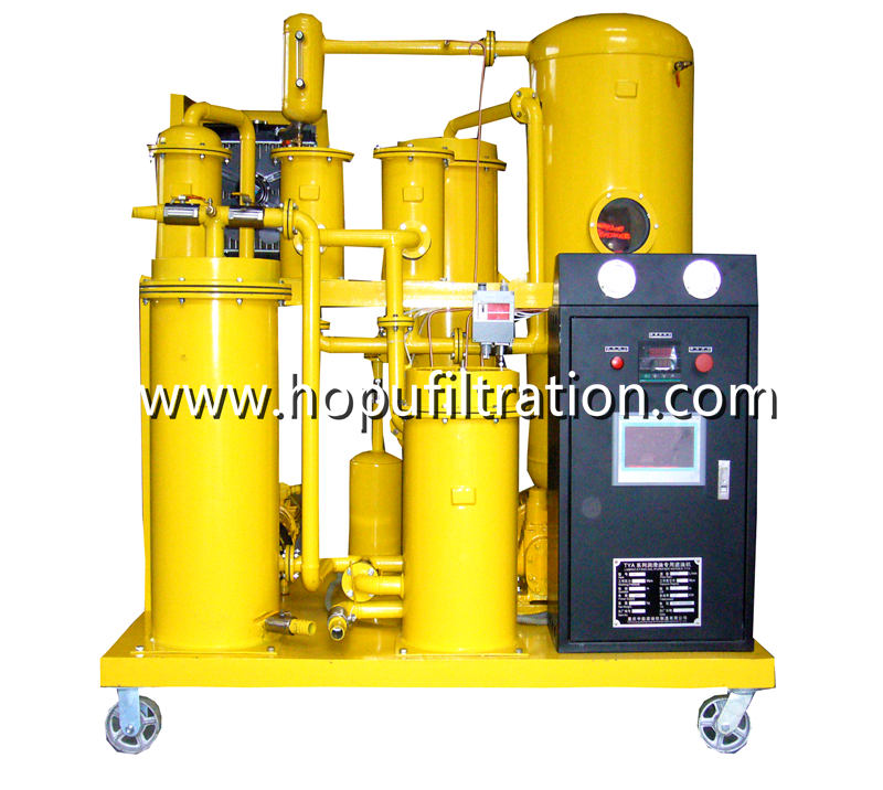 Vacuum Gear Oil Purifier,Lube Oil Processing Machine, Compressor Oil Purification Machine with PLC
